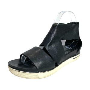 Eileen Fisher Sport Leather Wedge Sandals